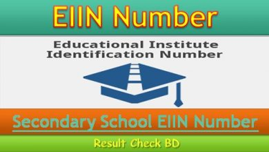 Secondary School EIIN Number