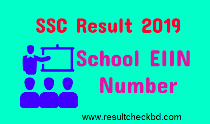 SSC Result 2019 by EIIN Number